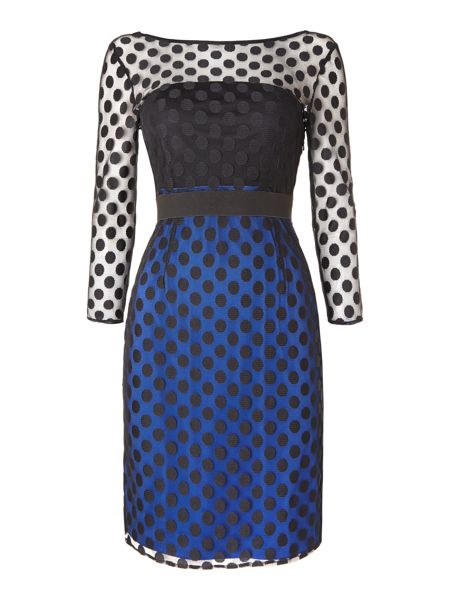 Untold Shift dress with spot sleeves