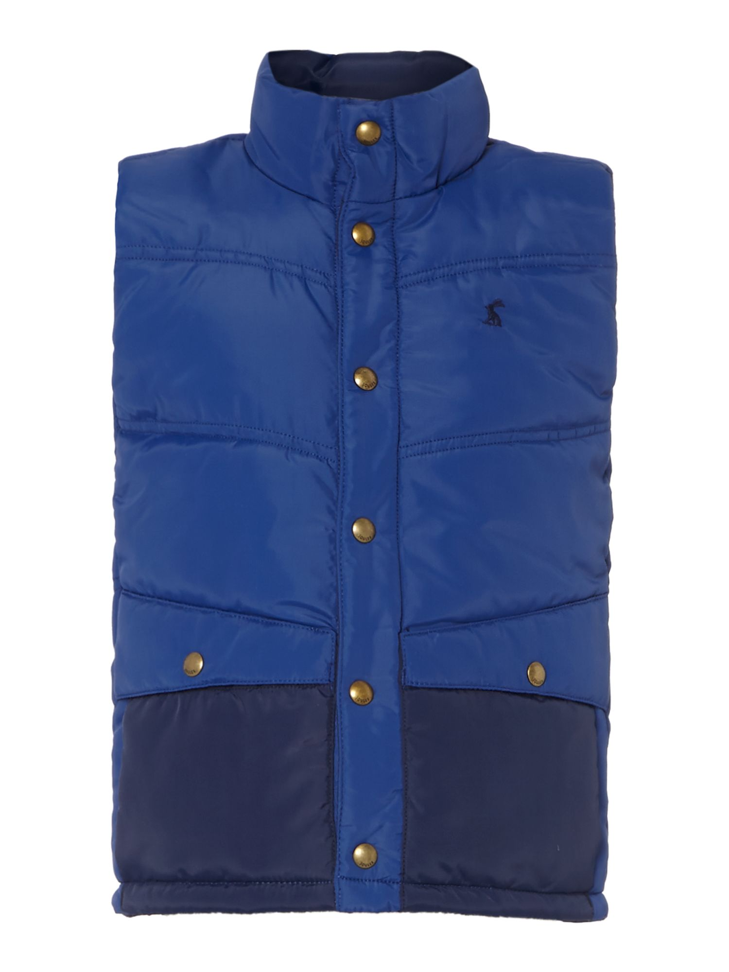 Boys contrast pocket quilted gilet