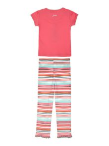 Baby girls teacup print t-shirt & legging set