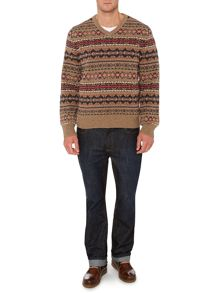 hampton fairisle v neck