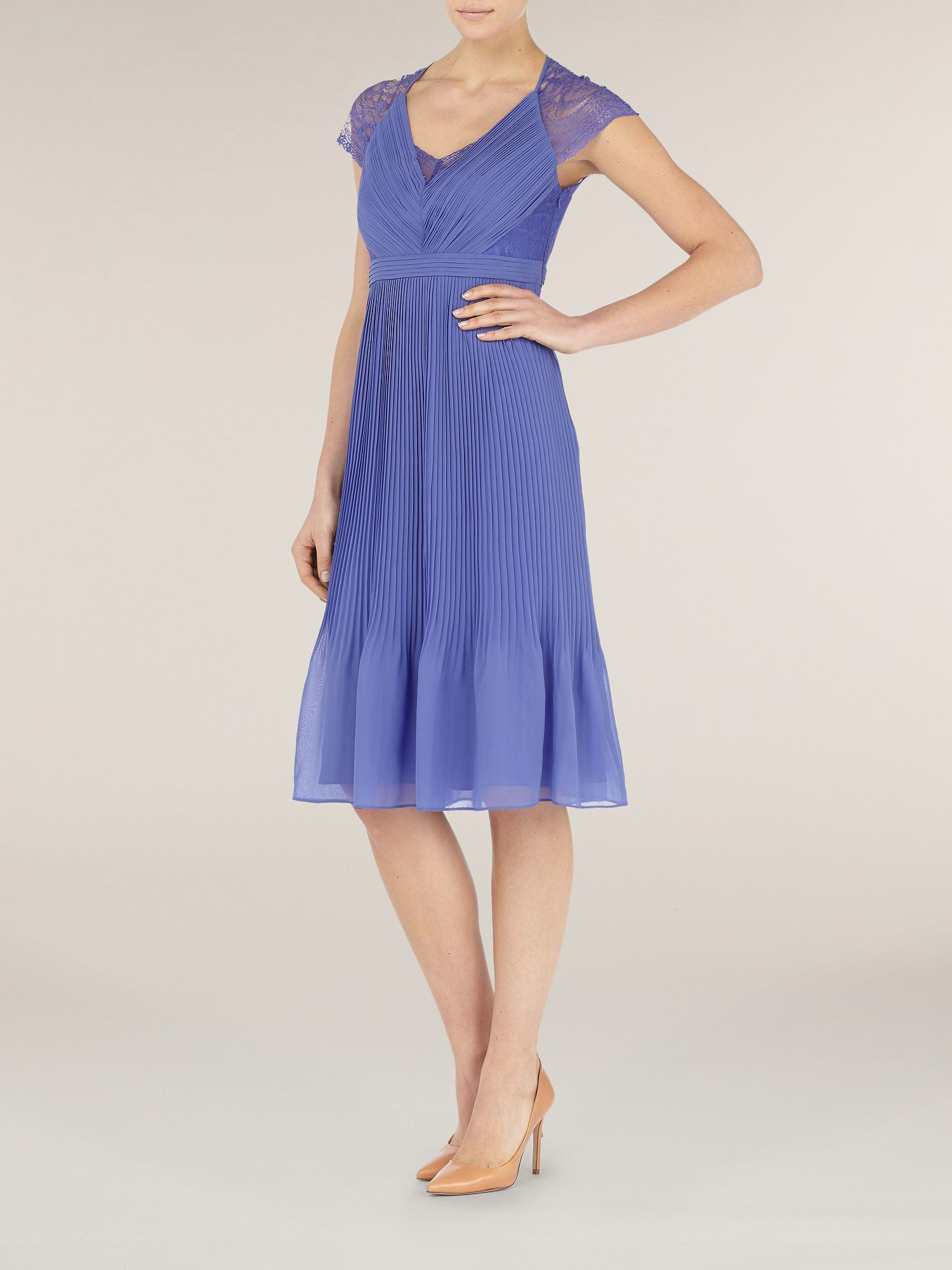 Lilac middleton pleat dress