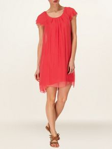Eloise silk frill dress