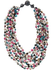 Faye multi bead necklace