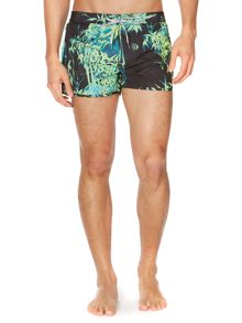 All over plant print swim short