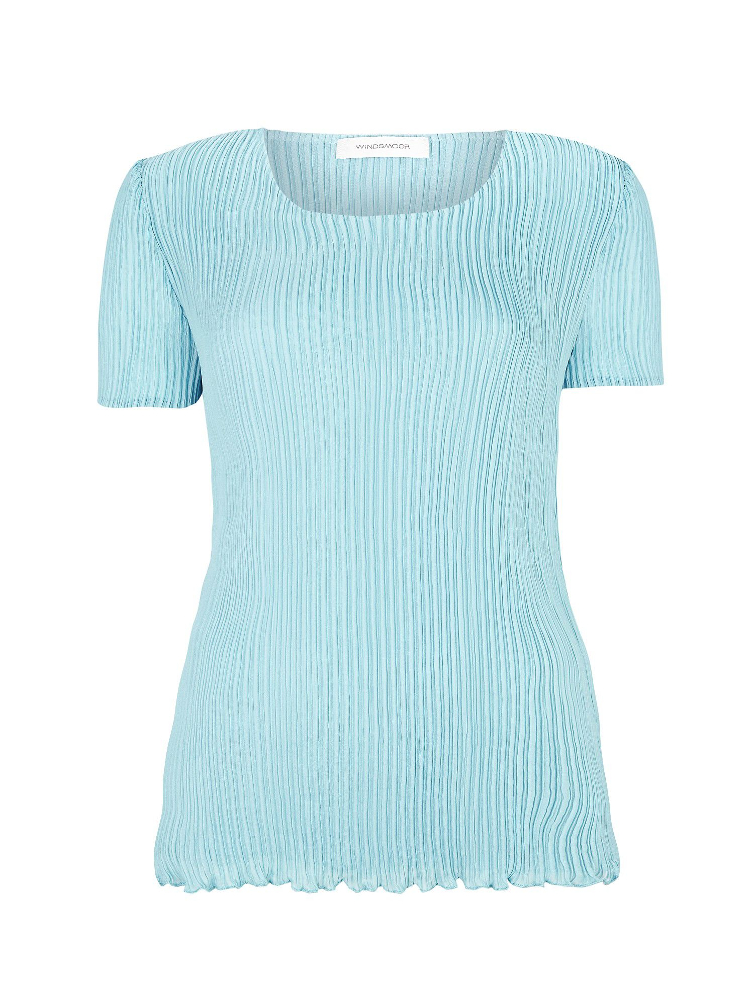 Ice blue crinkle top
