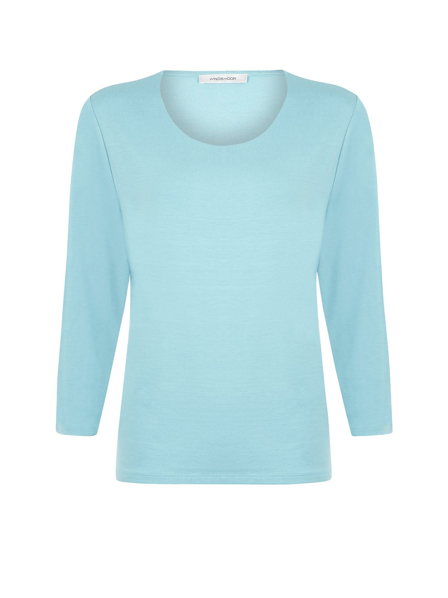 Ice blue scoop neck top