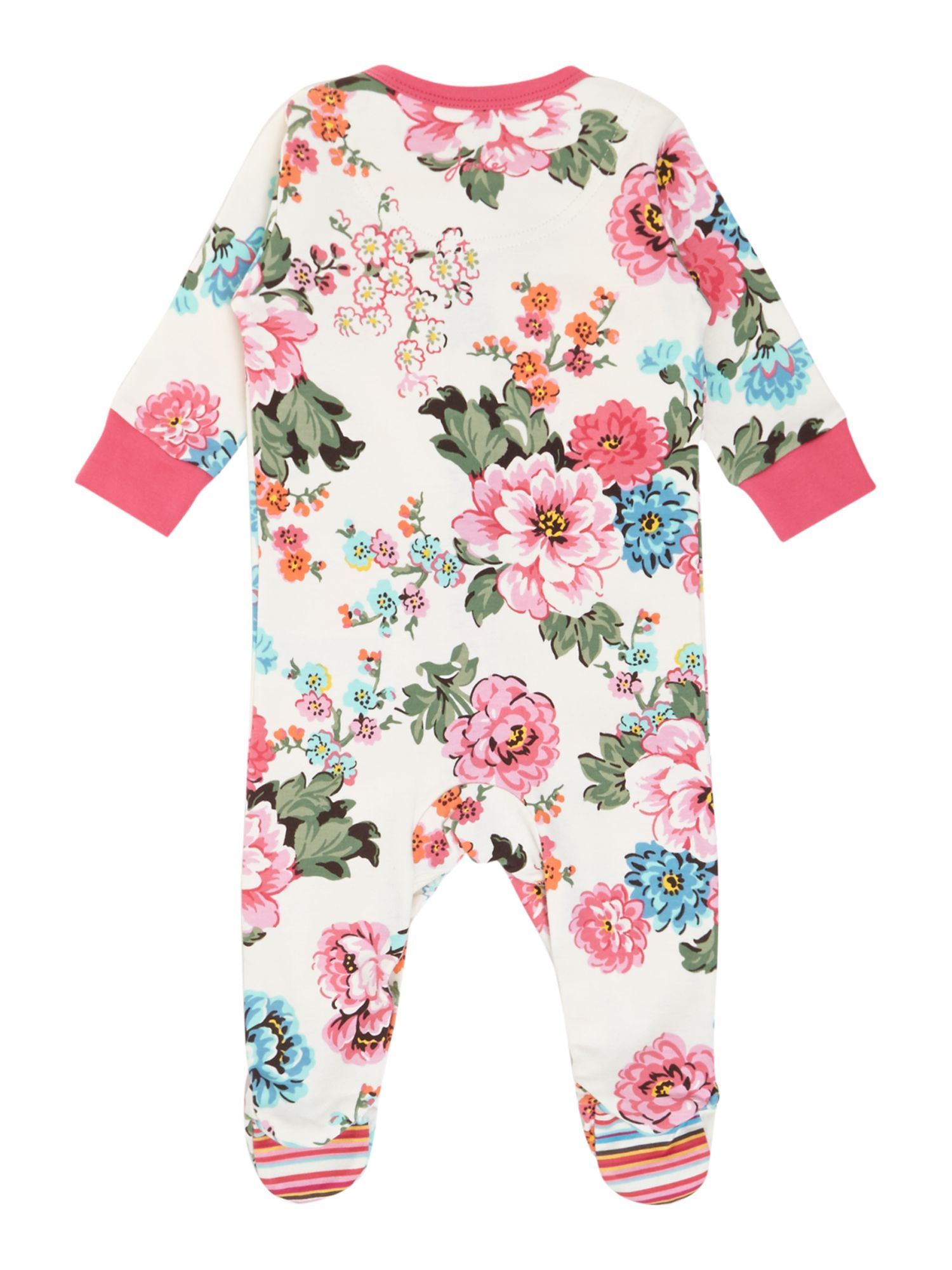Baby girls floral print sleepsuit