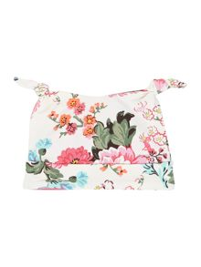 Baby girls floral print hat