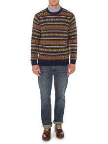 Boston fairisle crew neck jumper