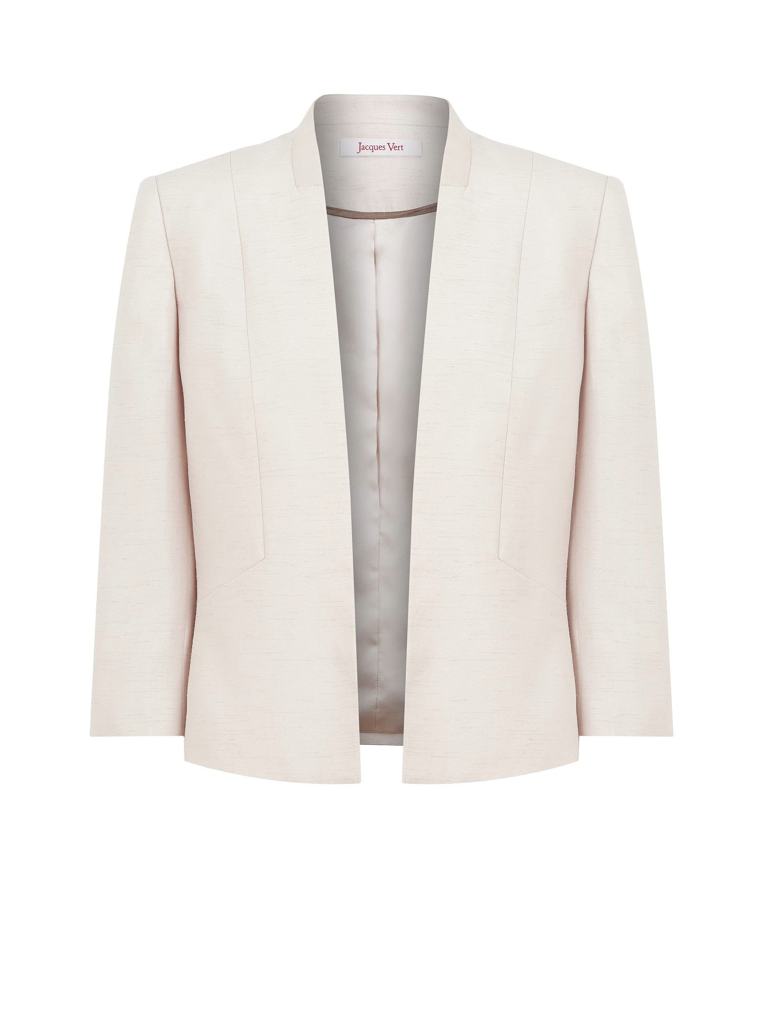 Champagne edge to edge jacket
