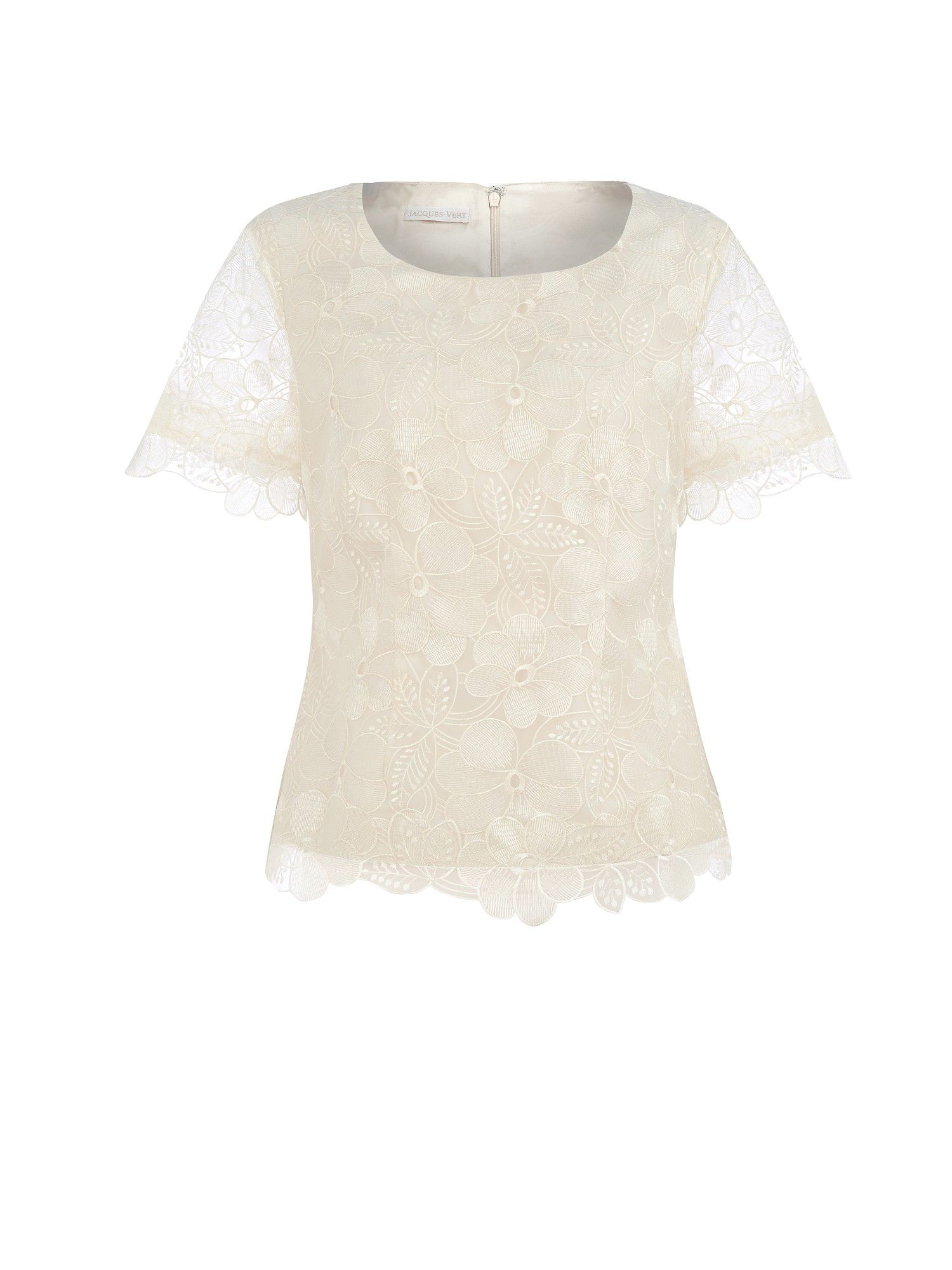 Cream organza floral blouse