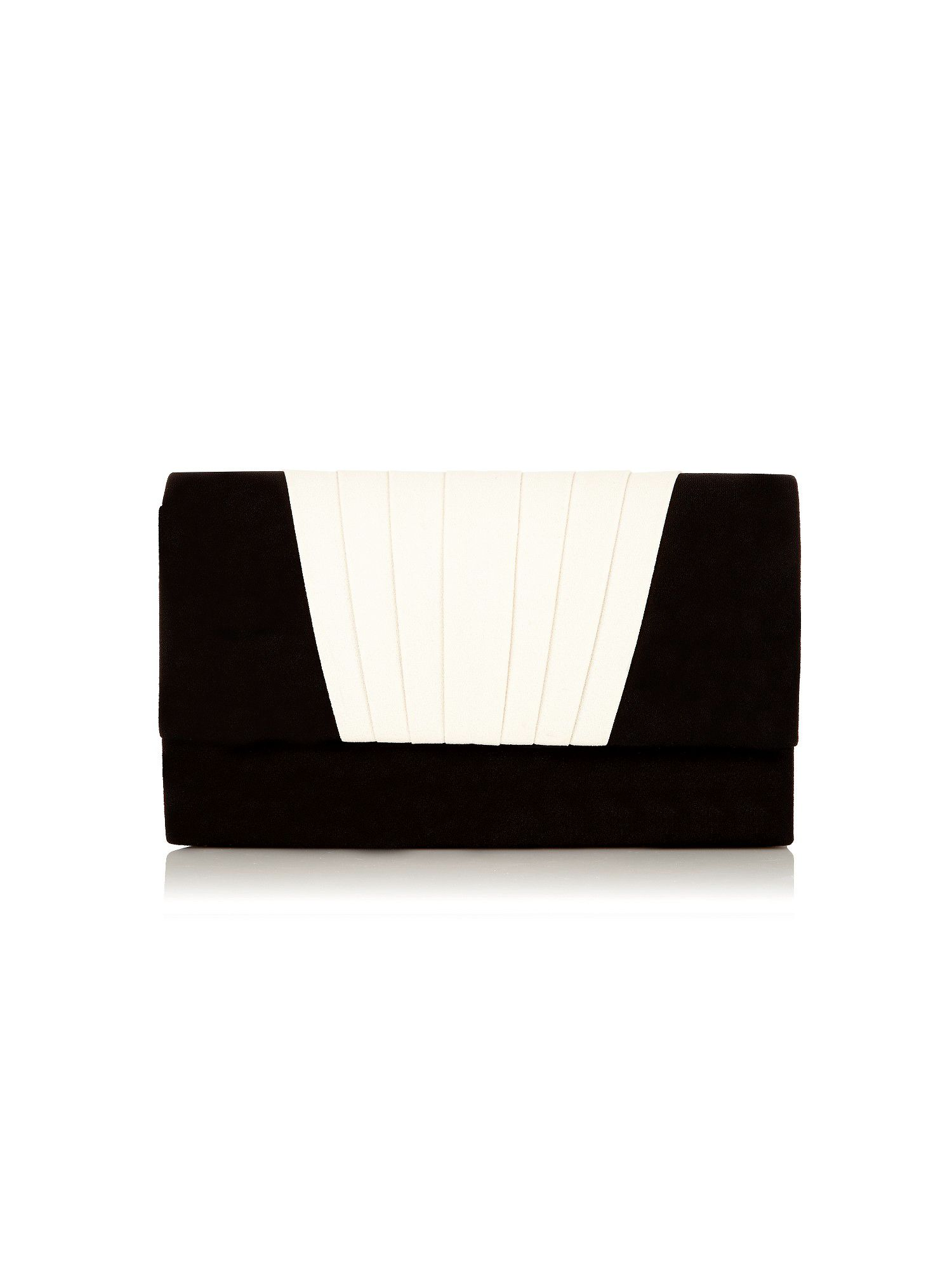 Black pleat trim clutch bag