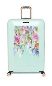 Sugars sweet floral print 4 wheel hard large case
