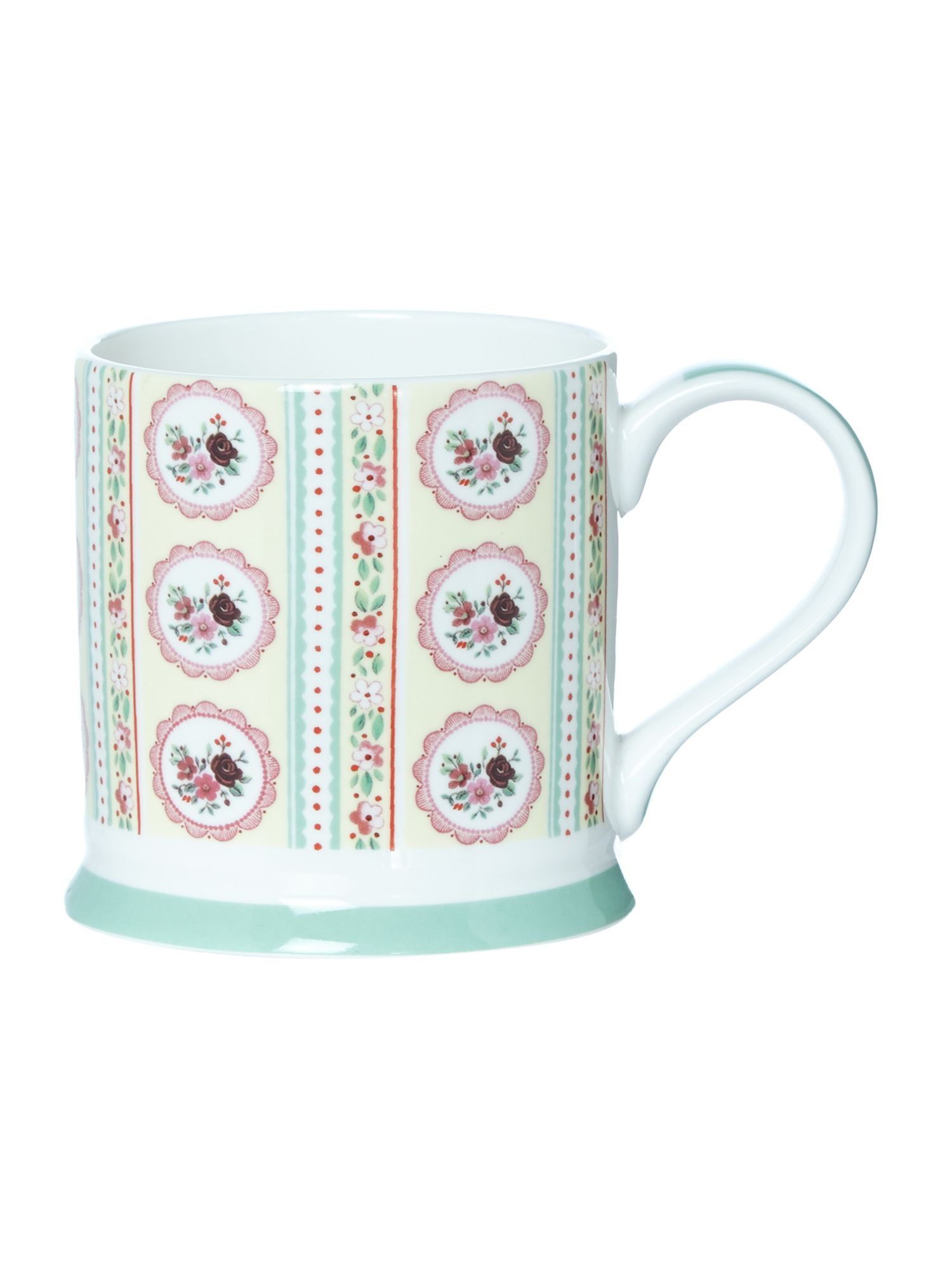 Cameo bouquet mug
