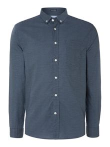 Todd spot print button down shirt