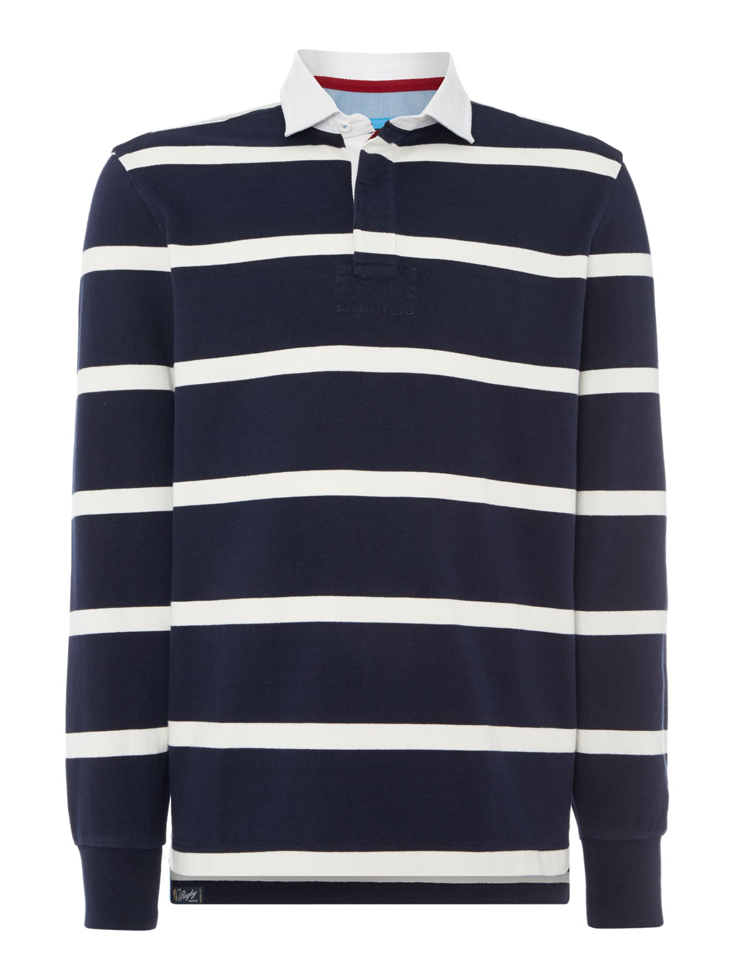 Men's Howick Hockney Striped Rugby Shirt, Blue