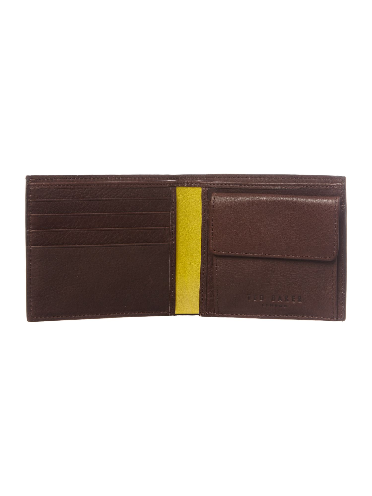 Bright leather bifold wallet
