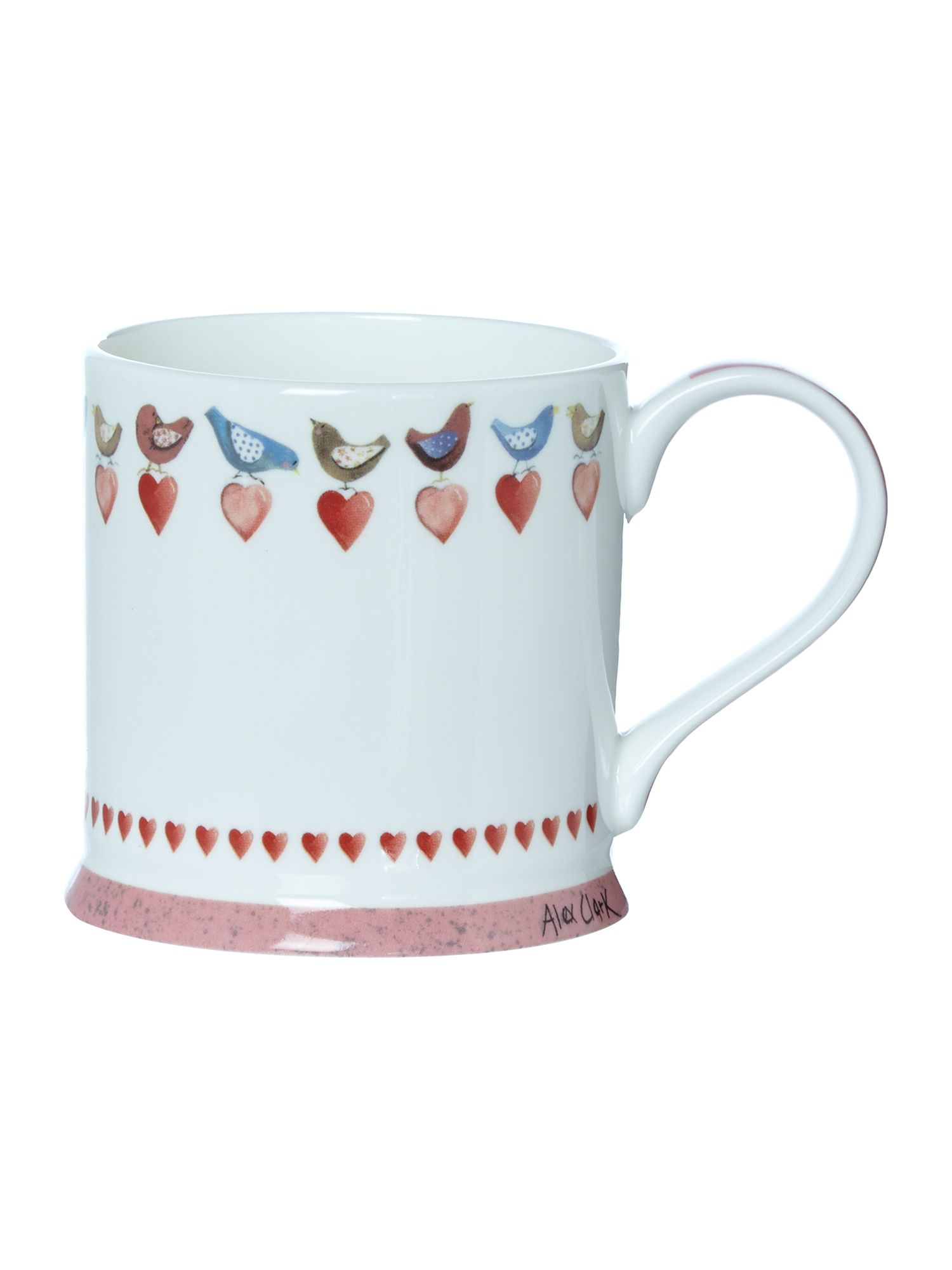 Mellow yellow love birds mug