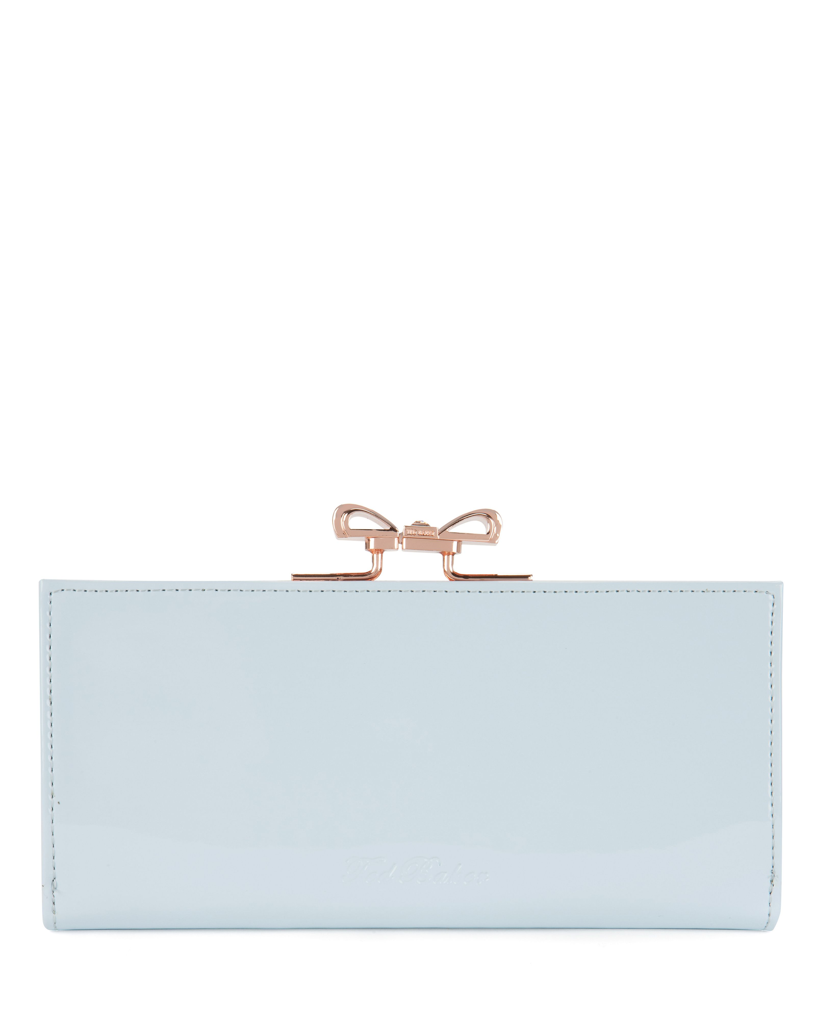 Pezie crystal bow matinee purse