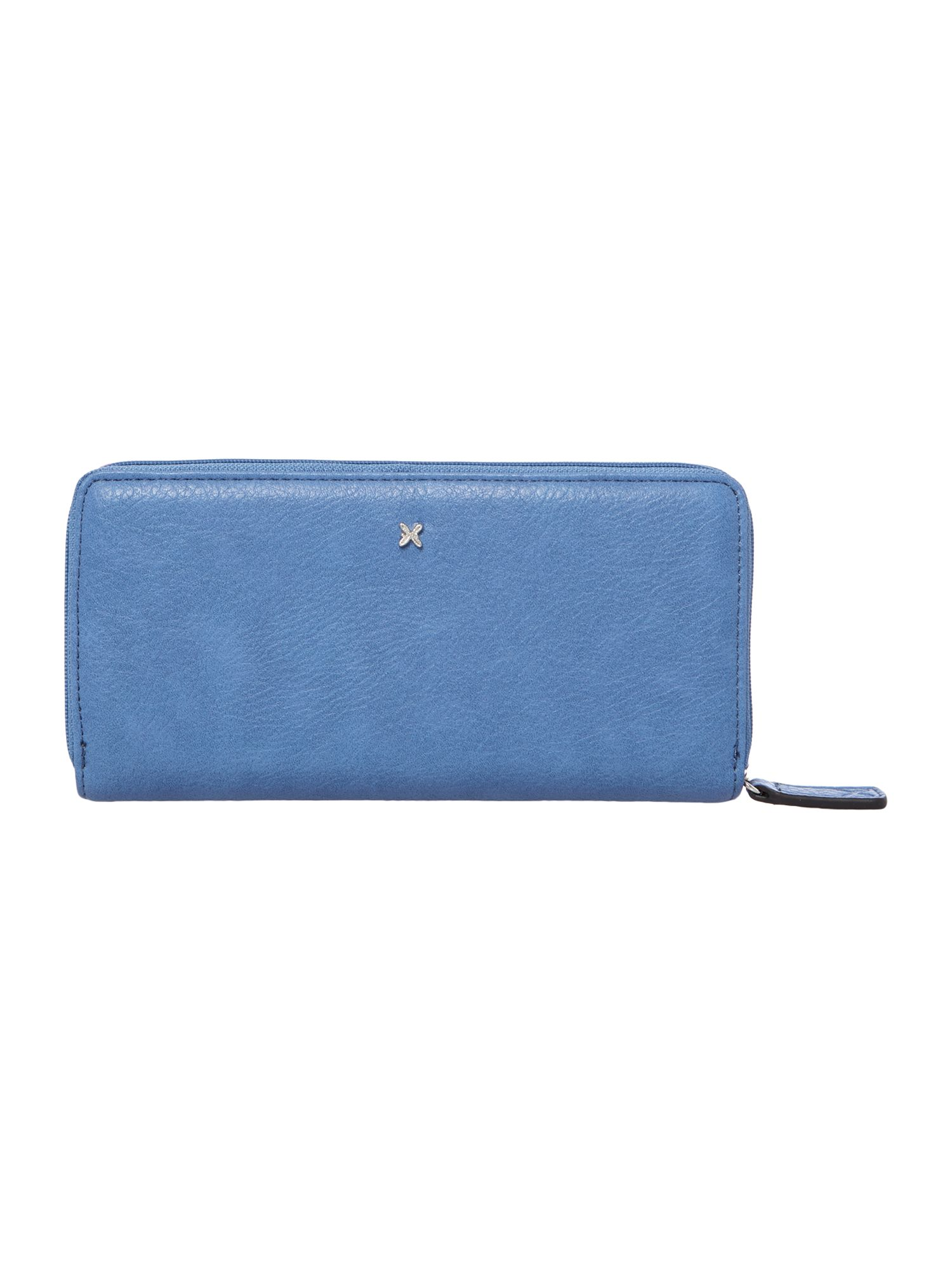 Vera blue large zip around purse