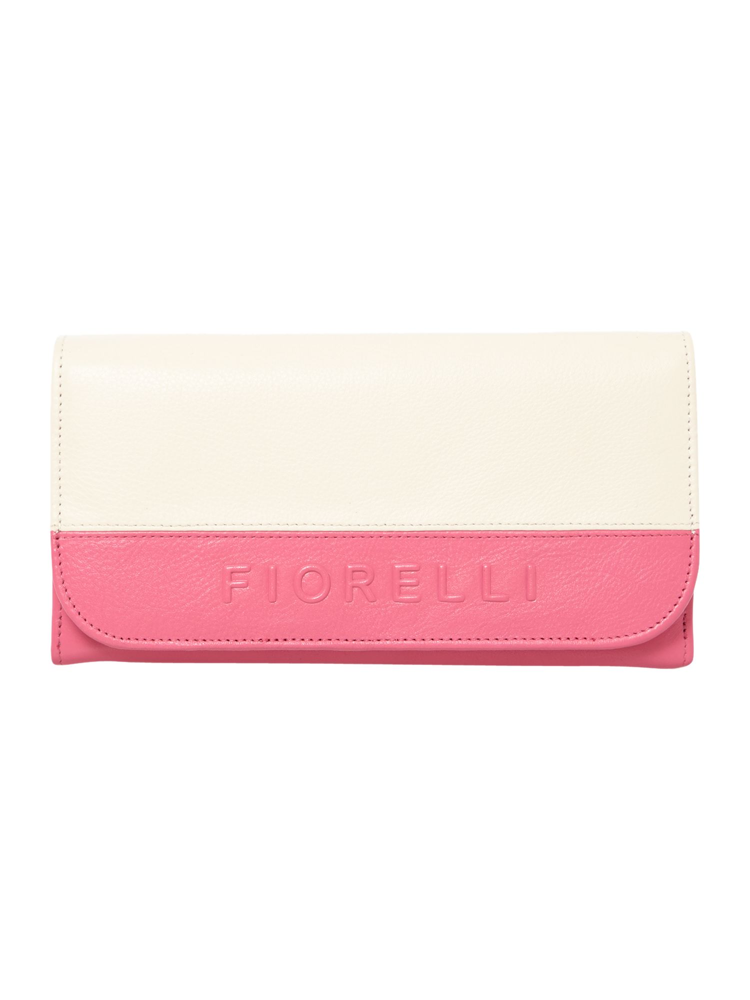 Sarah multi coloured large flap over purse