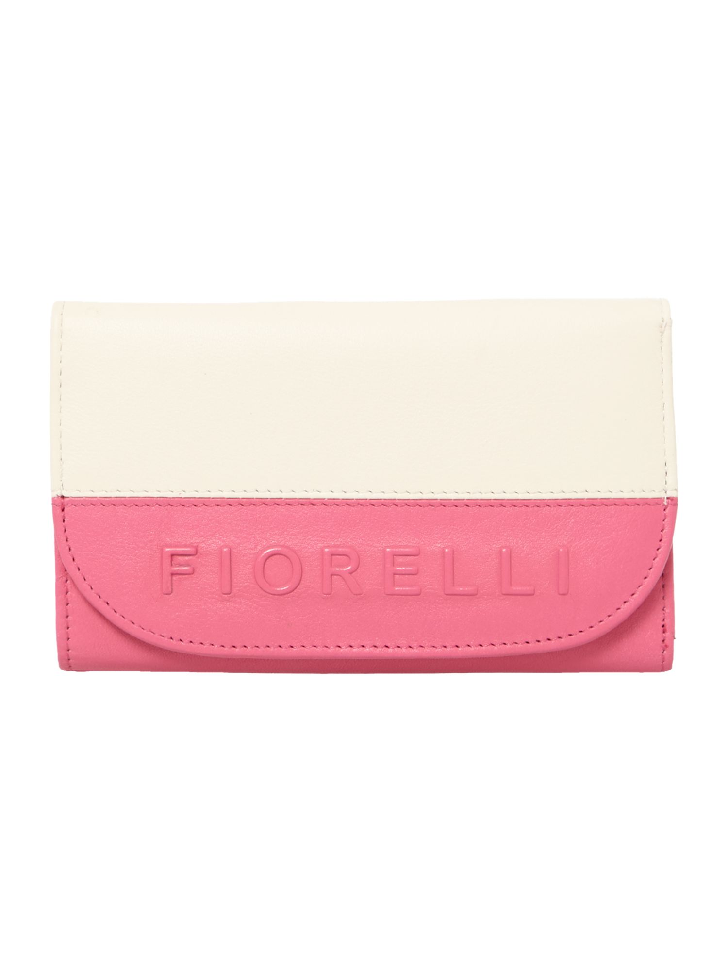 Sarah multi coloured medium flap over purse
