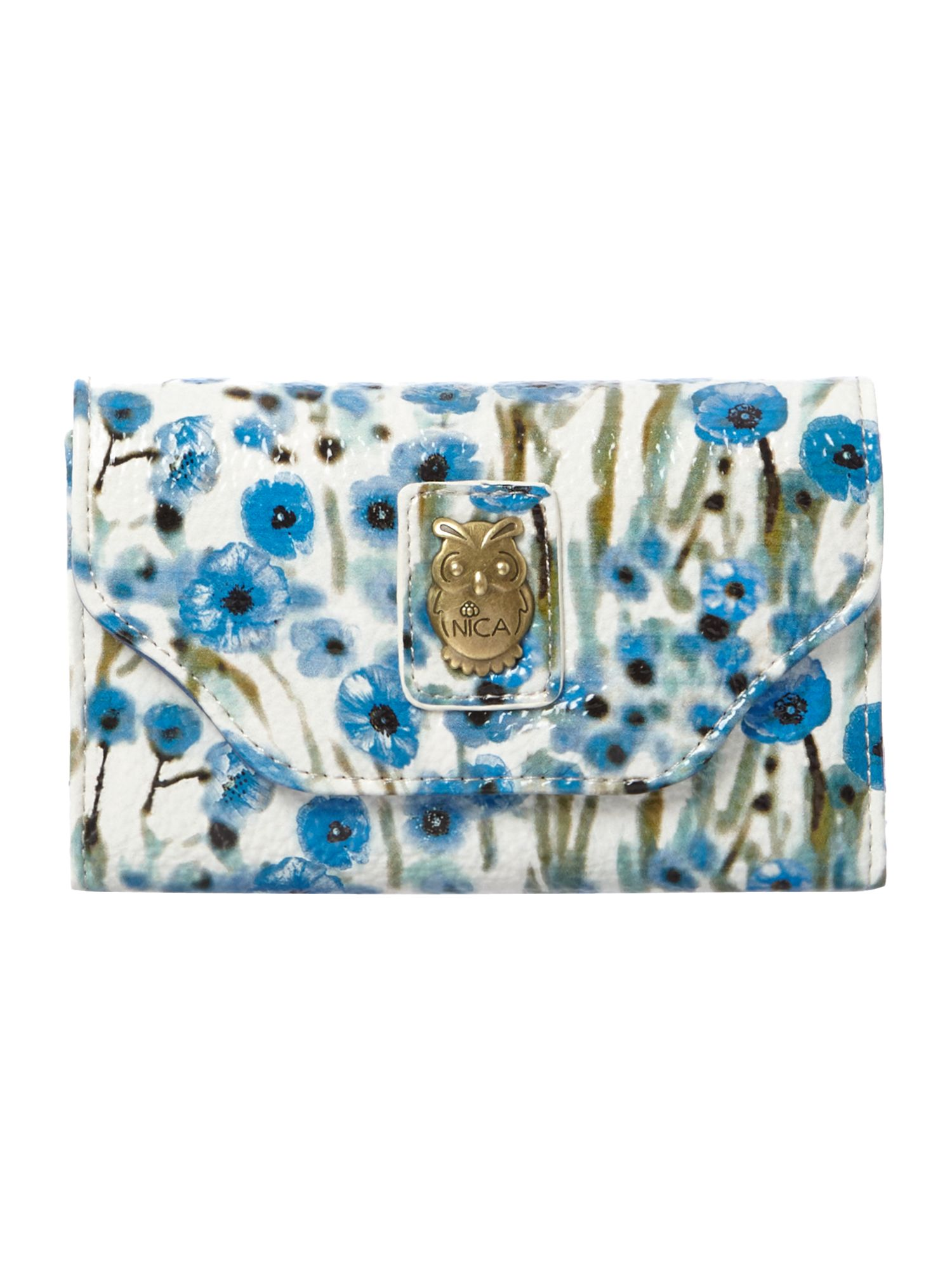 Dani blue small flap over purse