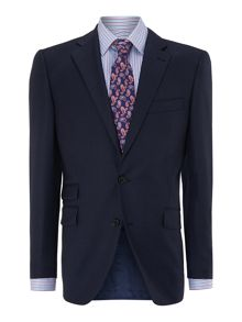 Heath sharkskin ticket pocket suit jacket