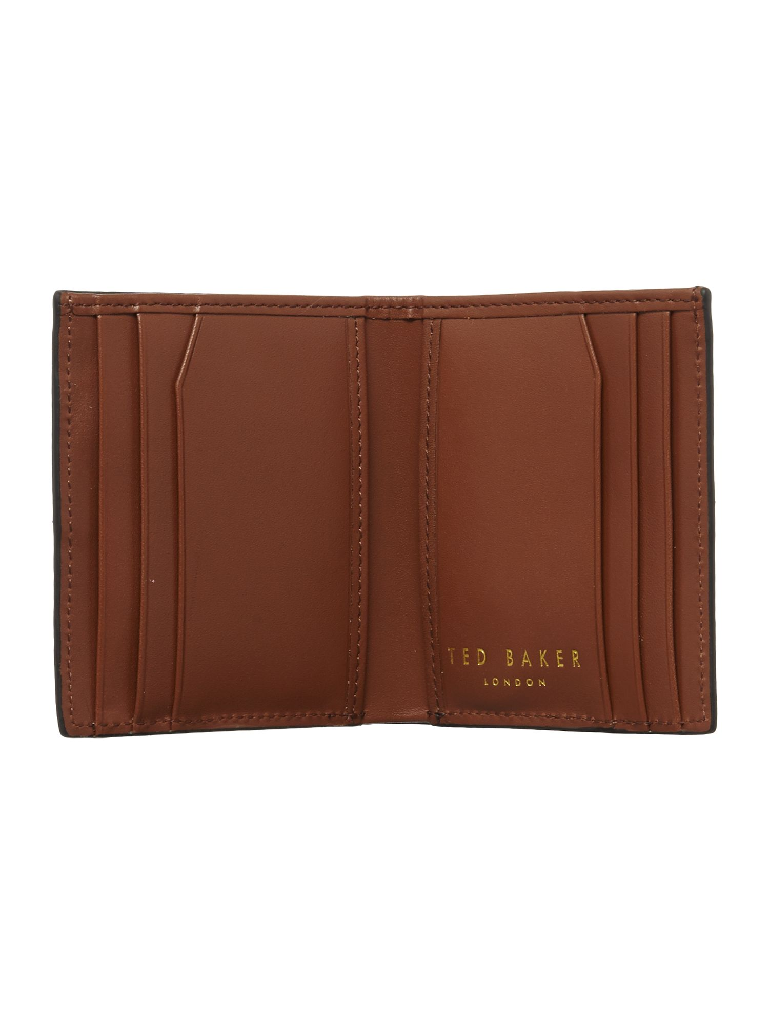 Colour block small bifold wallet