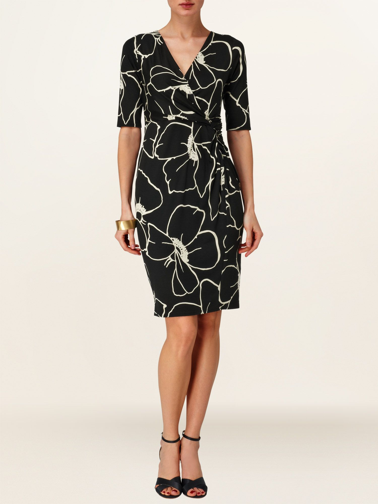 Molly print wrap dress