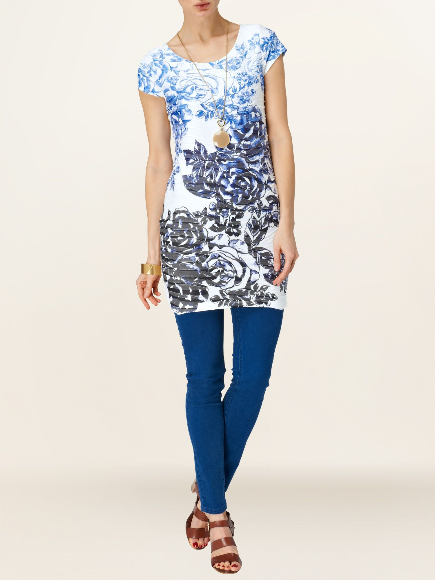 Tracey floral tunic