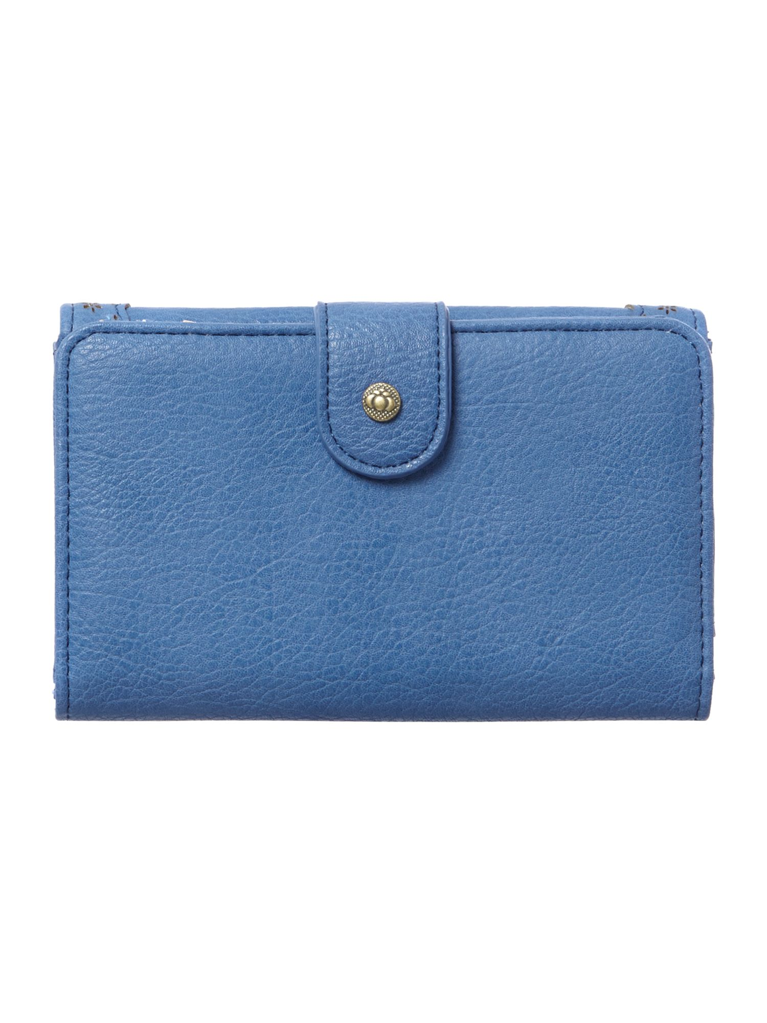 Alicia blue medium flap over purse