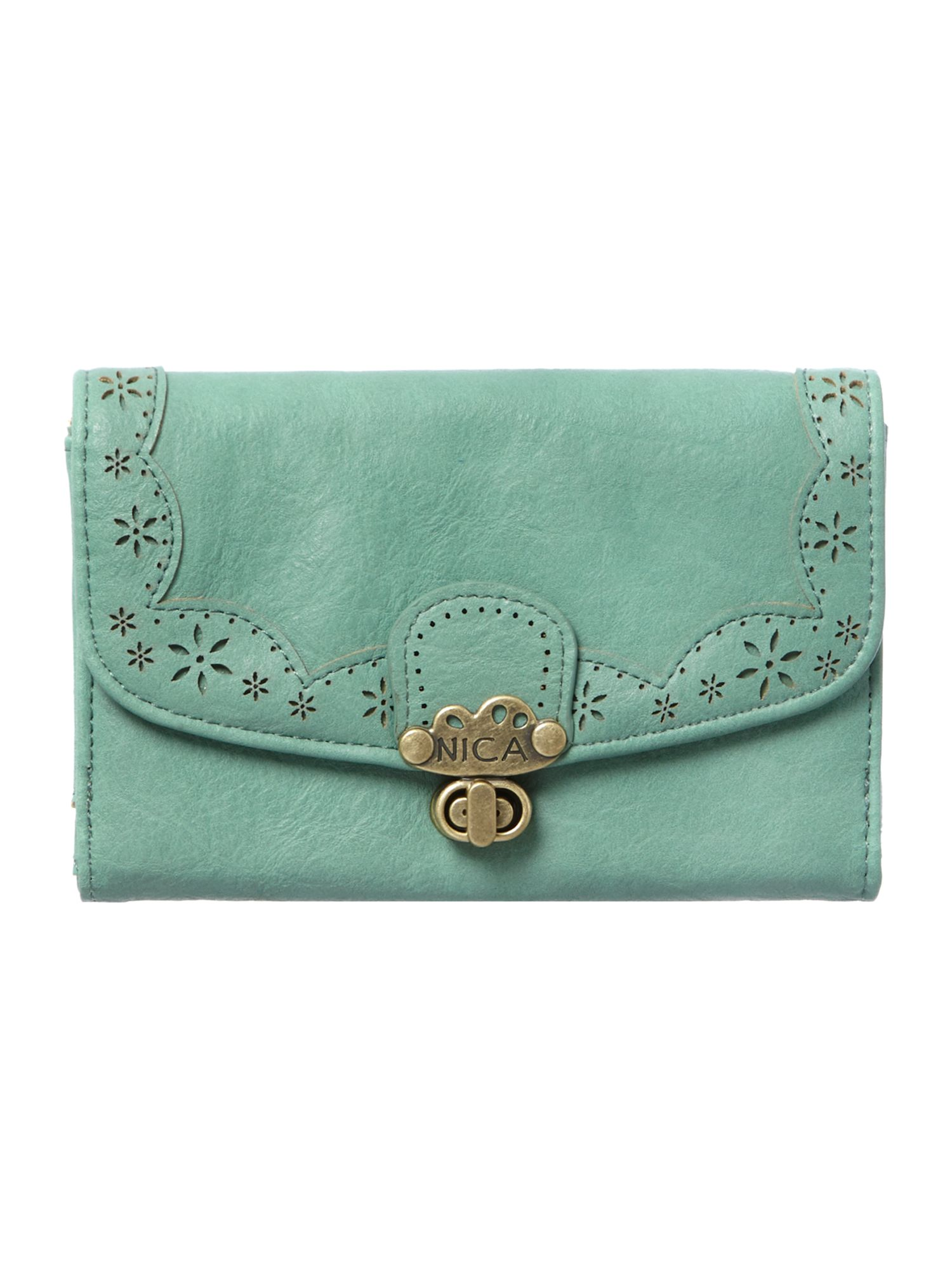 Alicia green medium flap over purse