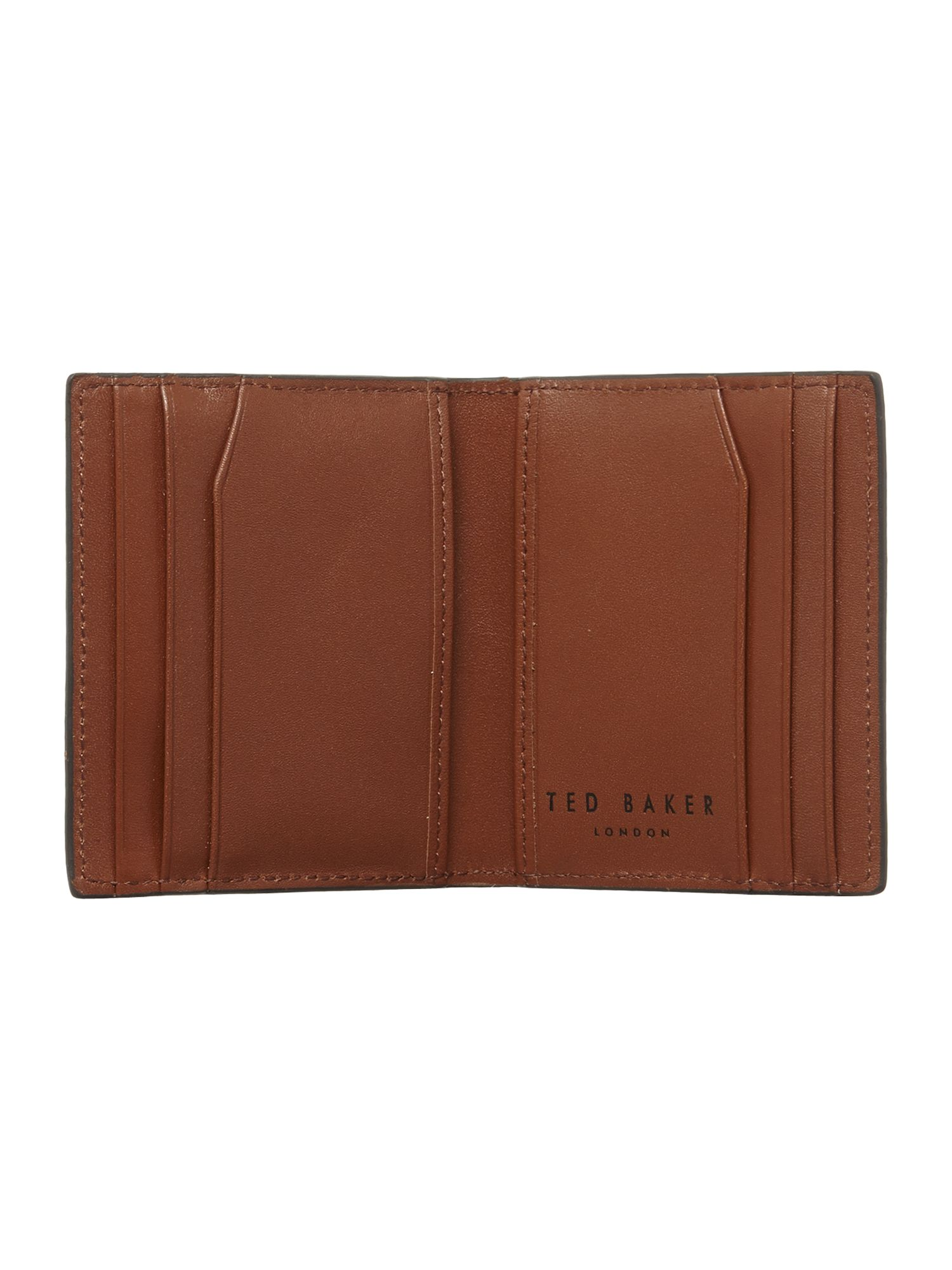 Broguin leather small bifold wallet