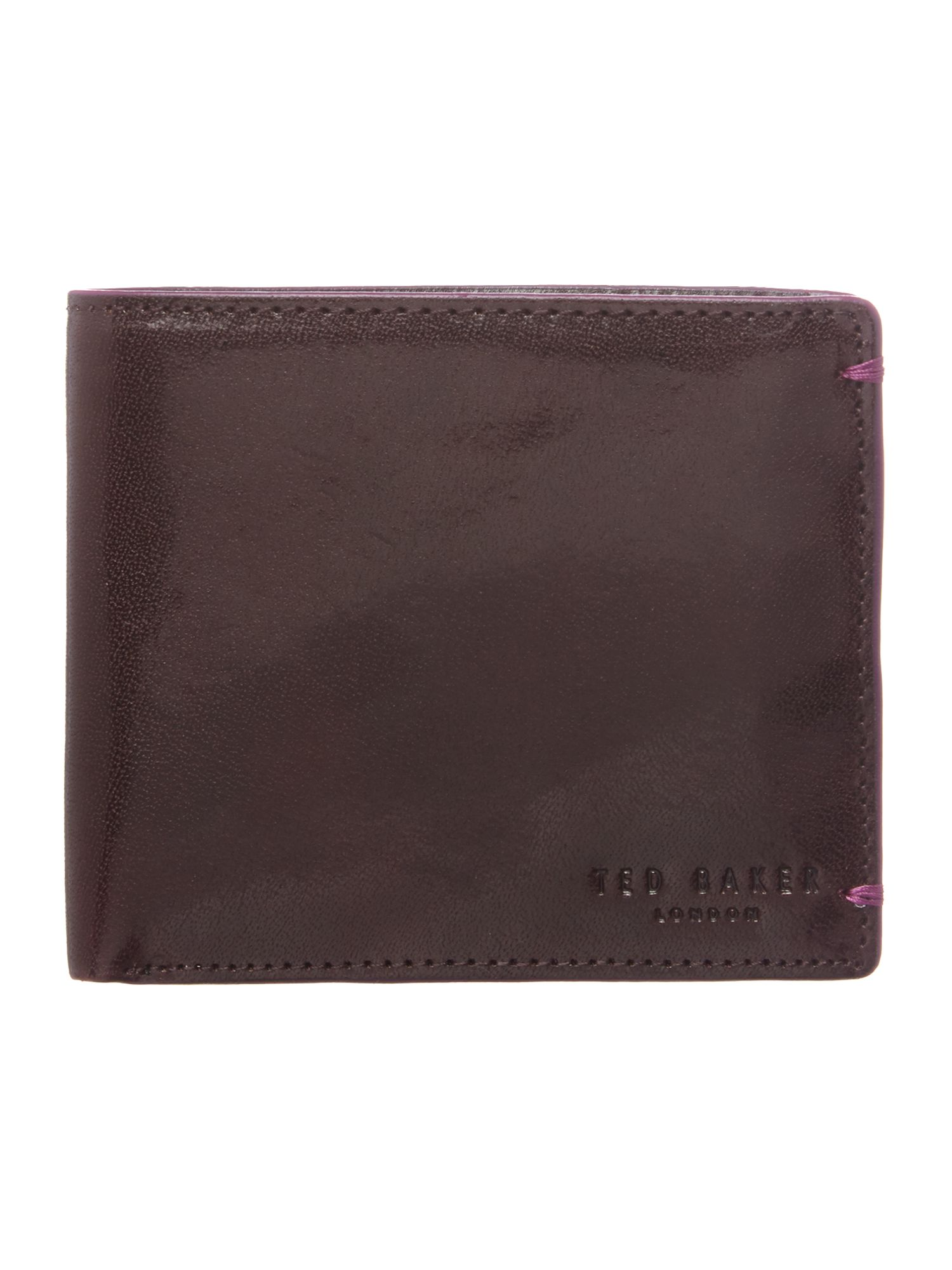 Painted bifold coin wallet