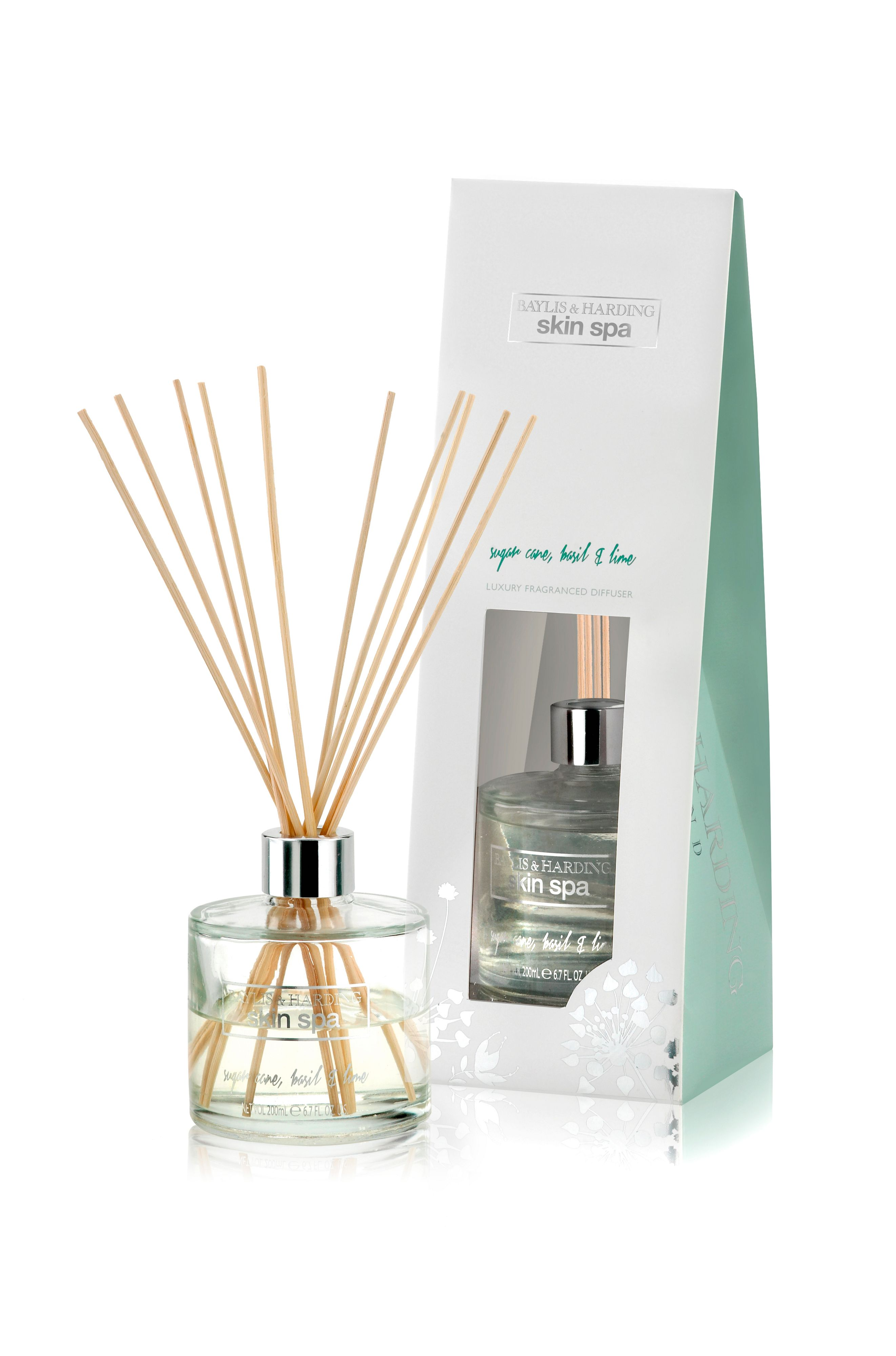 Sugar Cane, Basil & Lime Diffuser Set