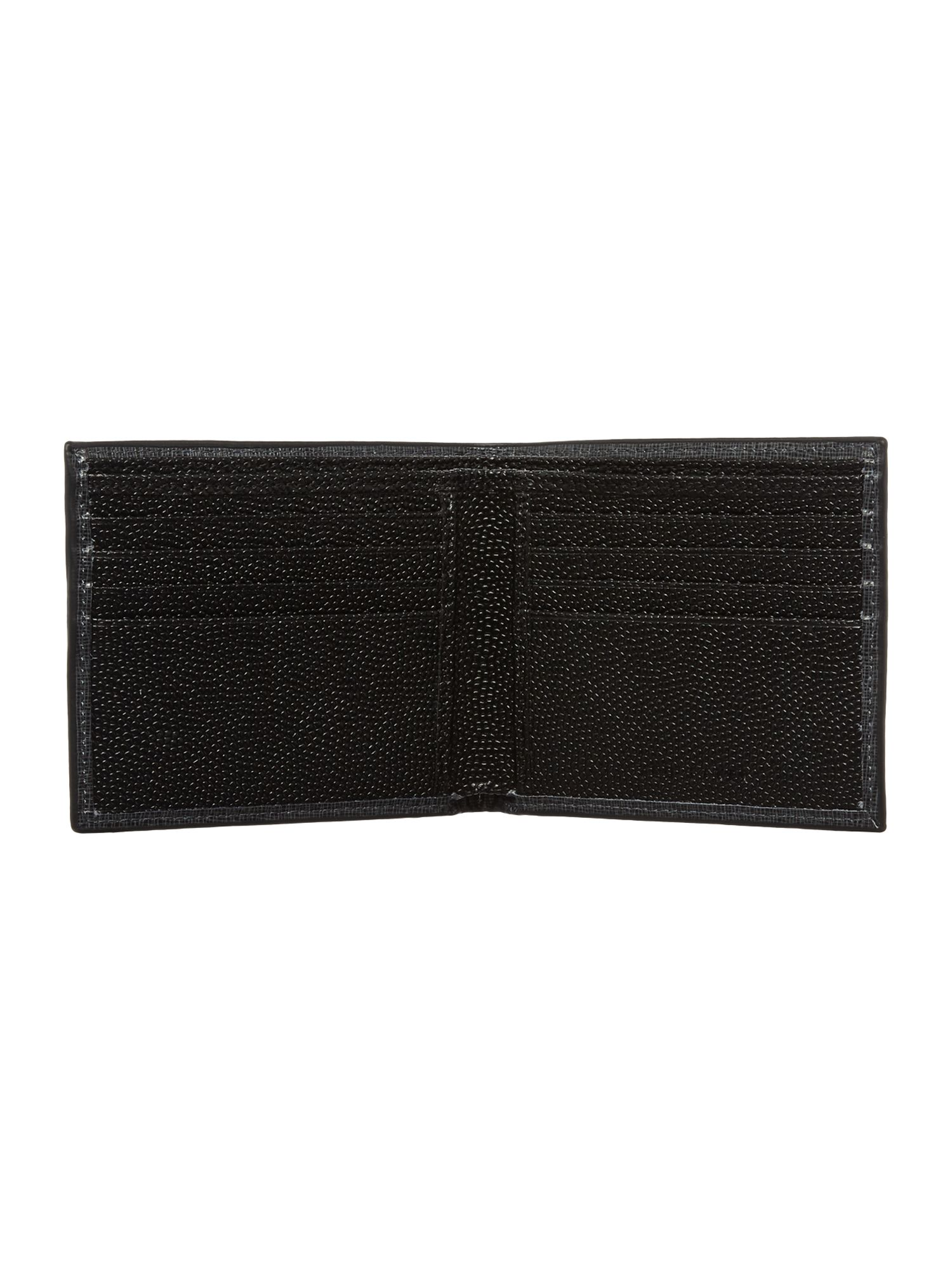 Cross grain bifold wallet
