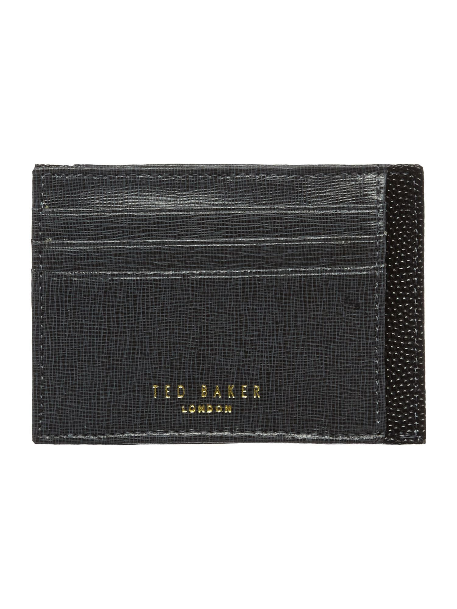 Cross grain card wallet