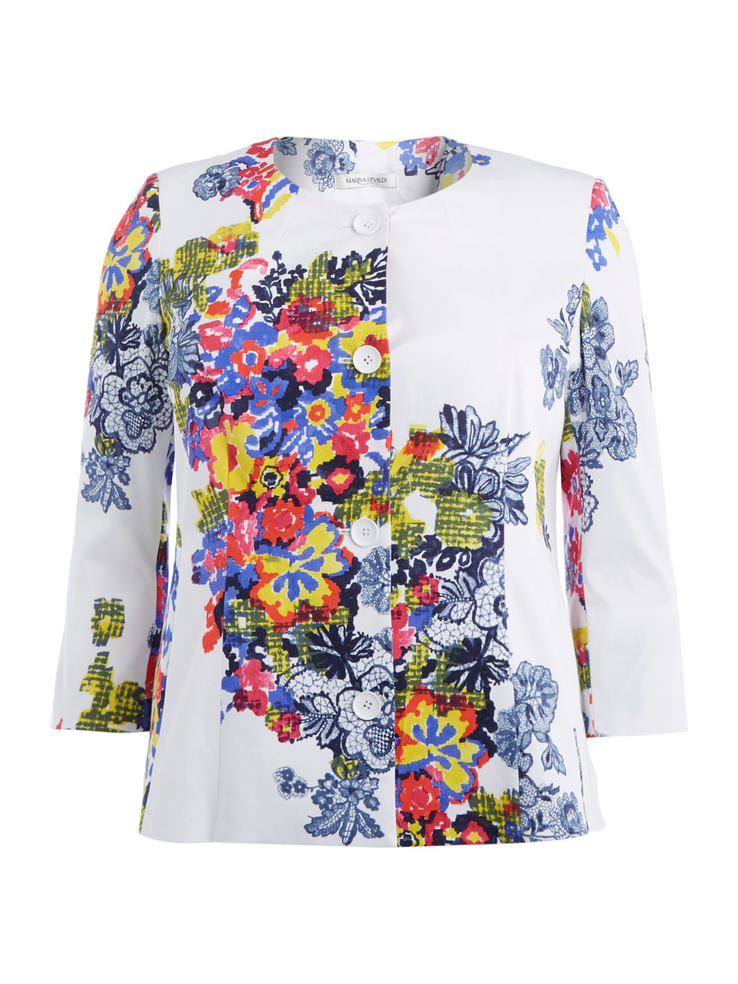 Corsa 3/4 sleeved floral printed jacket