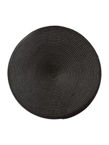 Linea Oslo black placemats set of 4