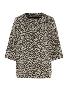Colorato 3/4 sleeved tribal printed jacket