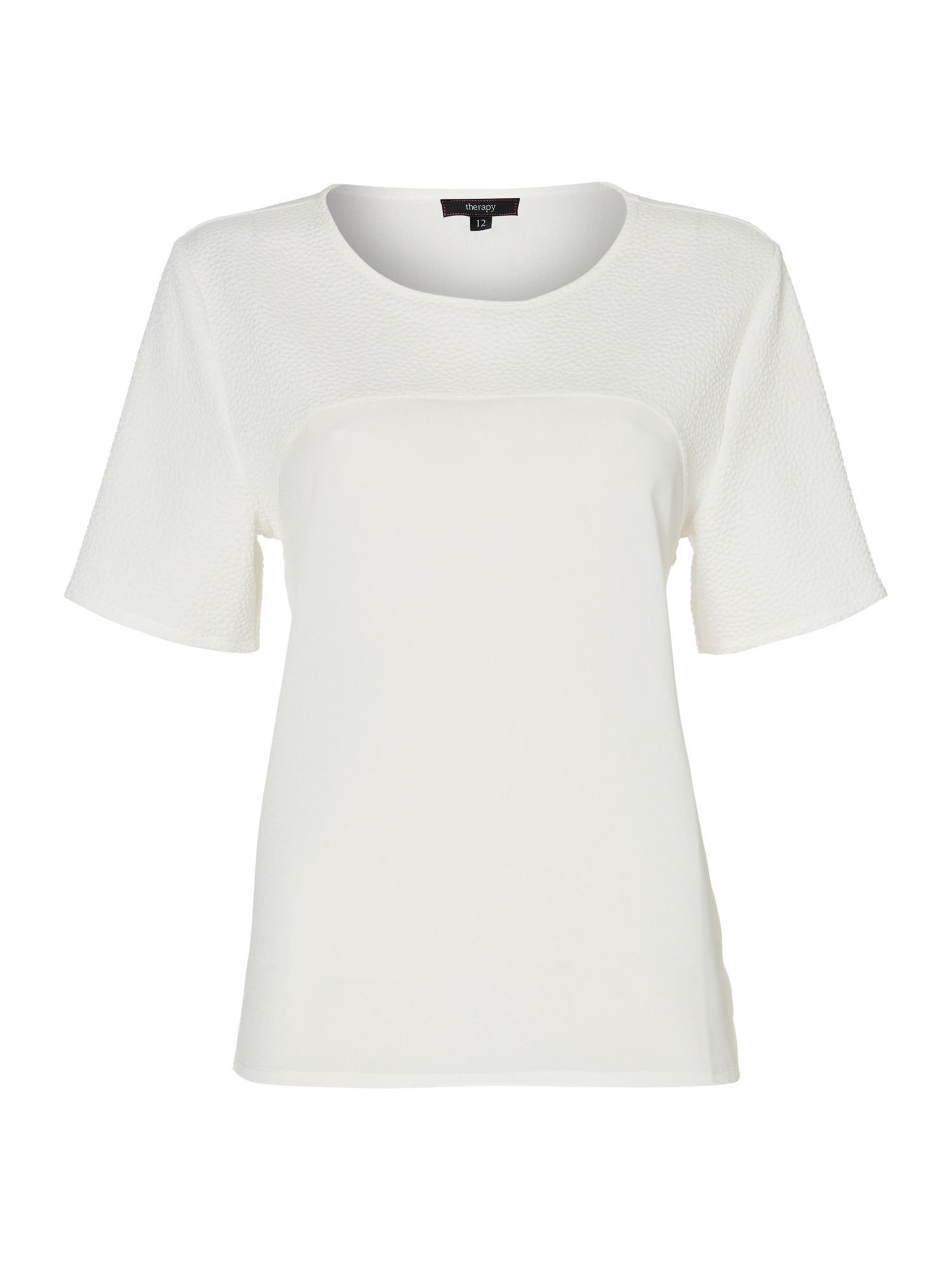 Textured t-shirt blouse