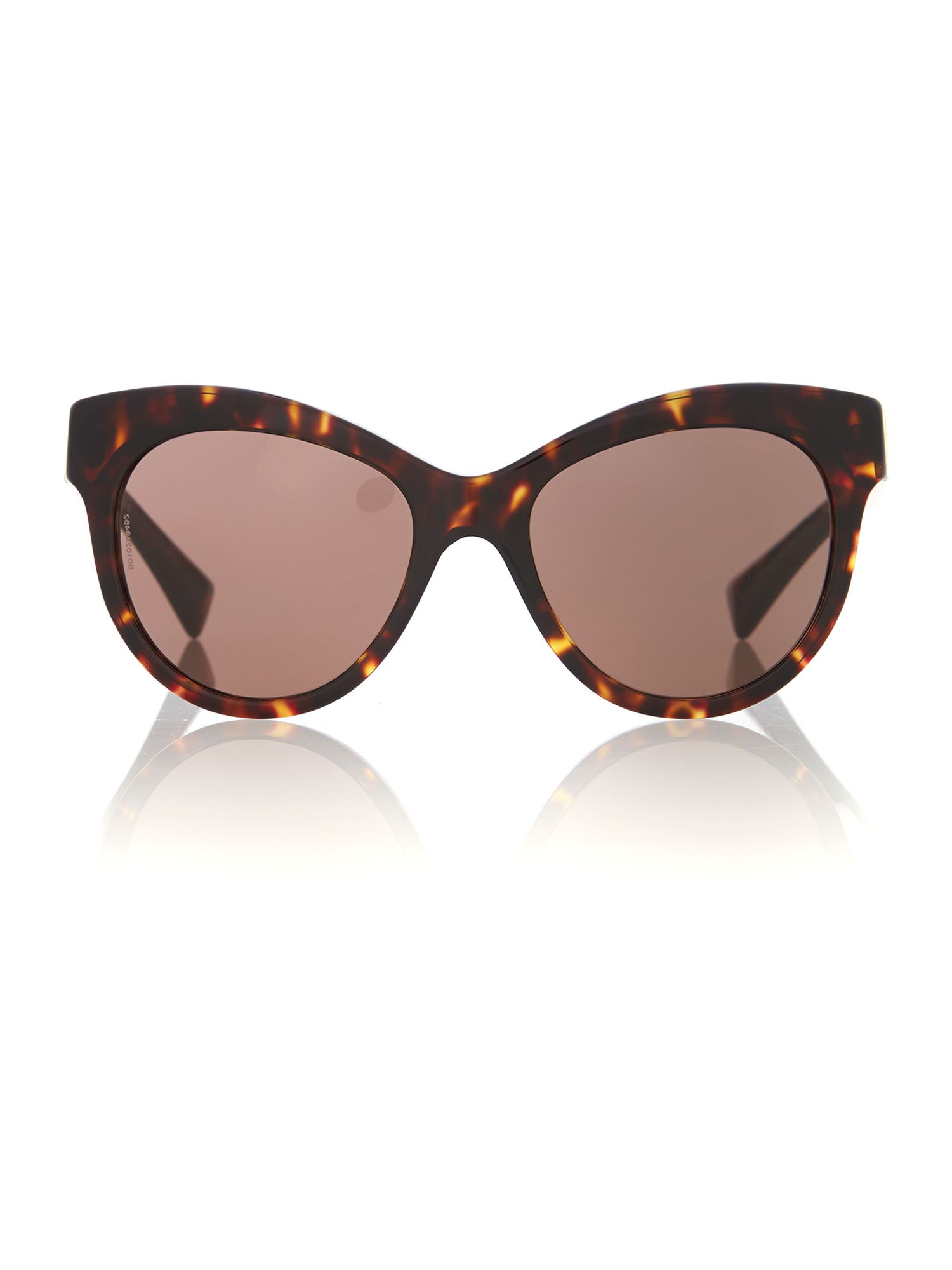 Women brown round sunglasses