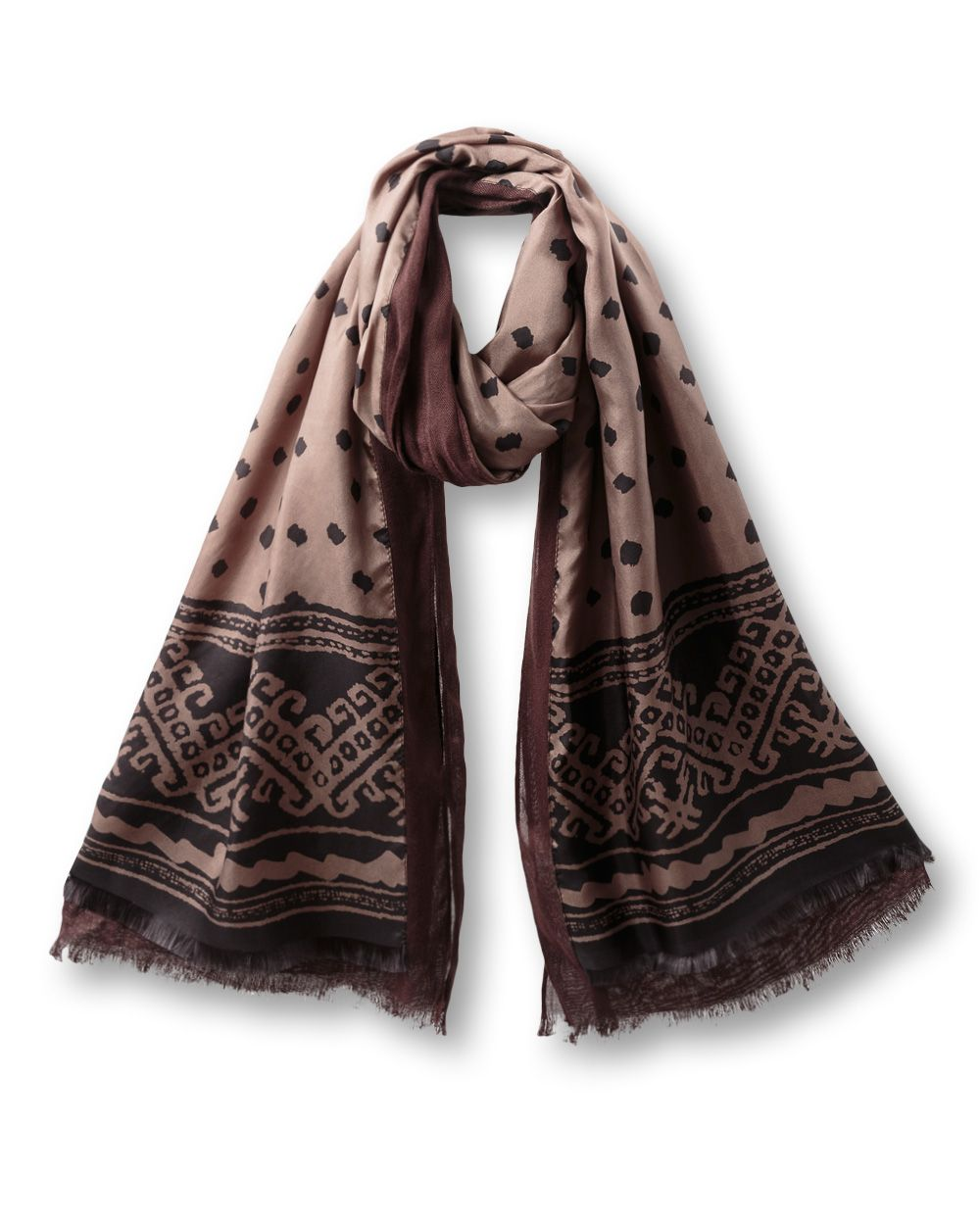 Mara silk layer scarf