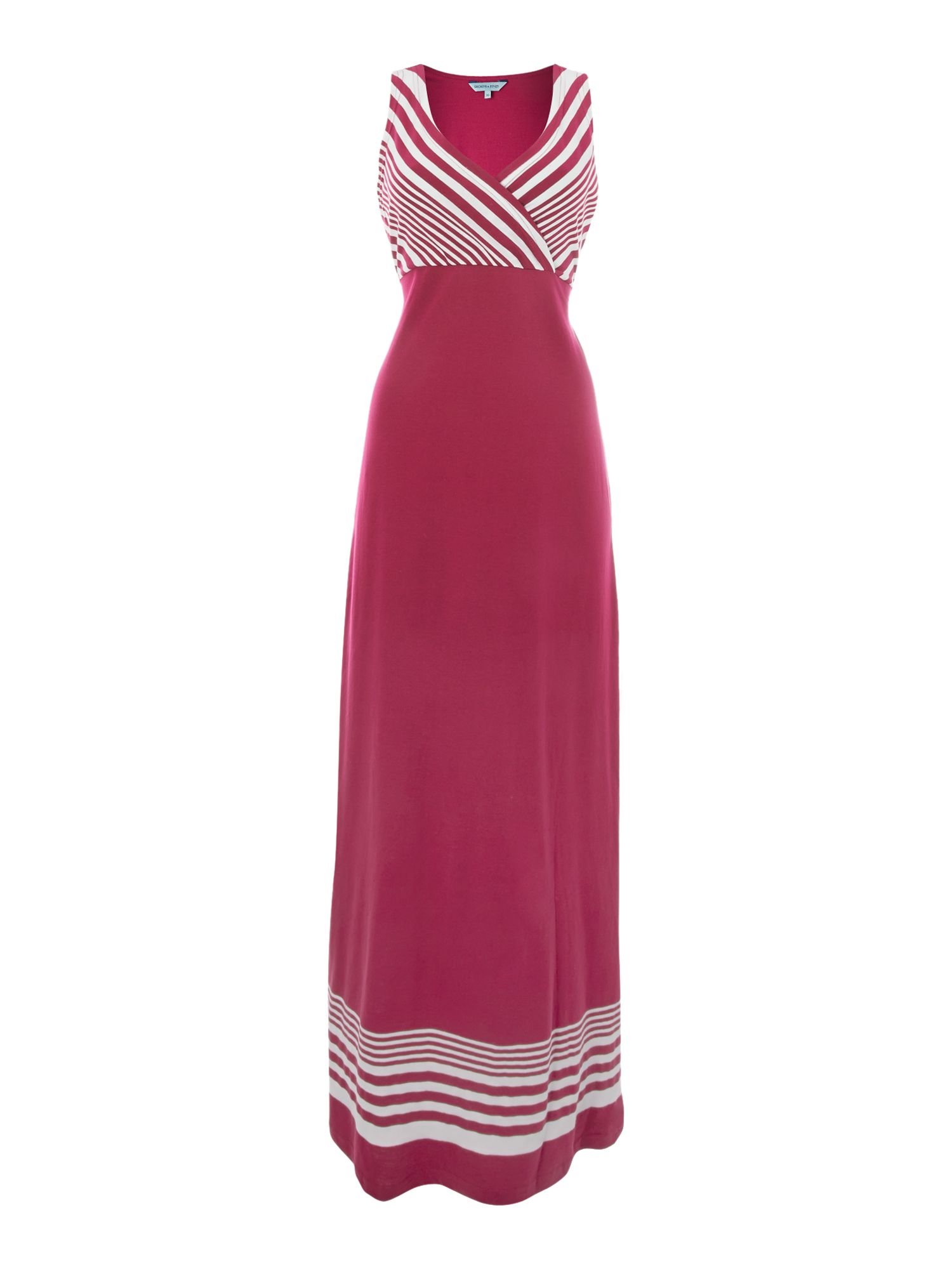 Maxi dress stripe and colour block