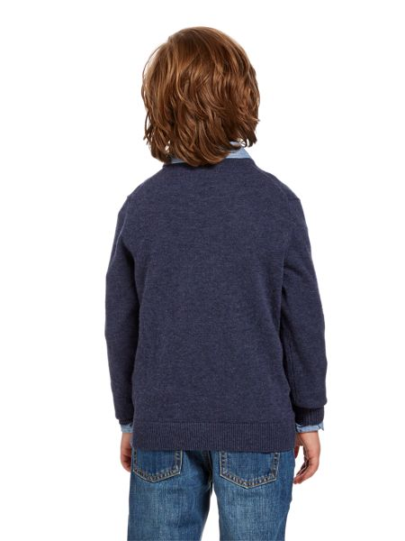 Howick Junior Boys lambswool crew neck jumper