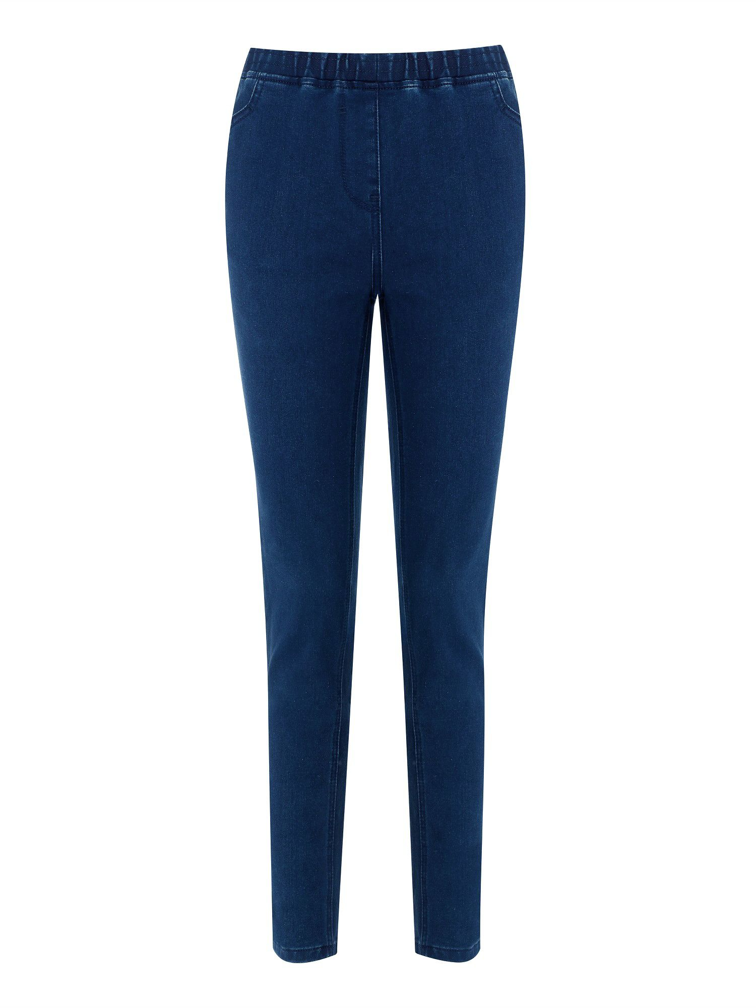 Mid wash denim jeggings petite