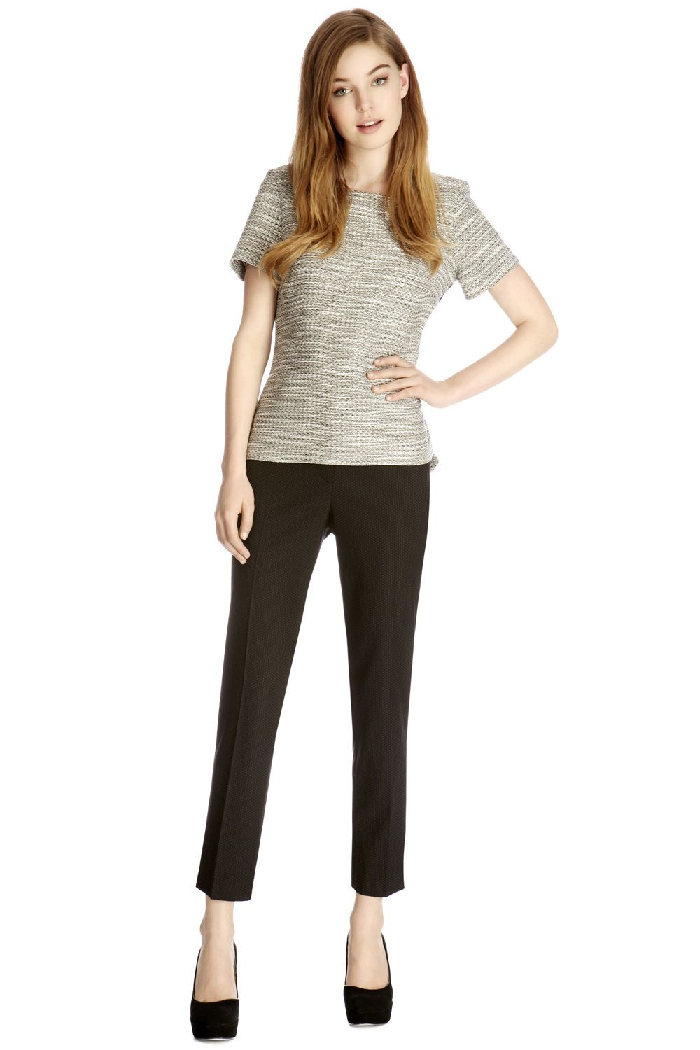 Kelly spot slim leg trouser