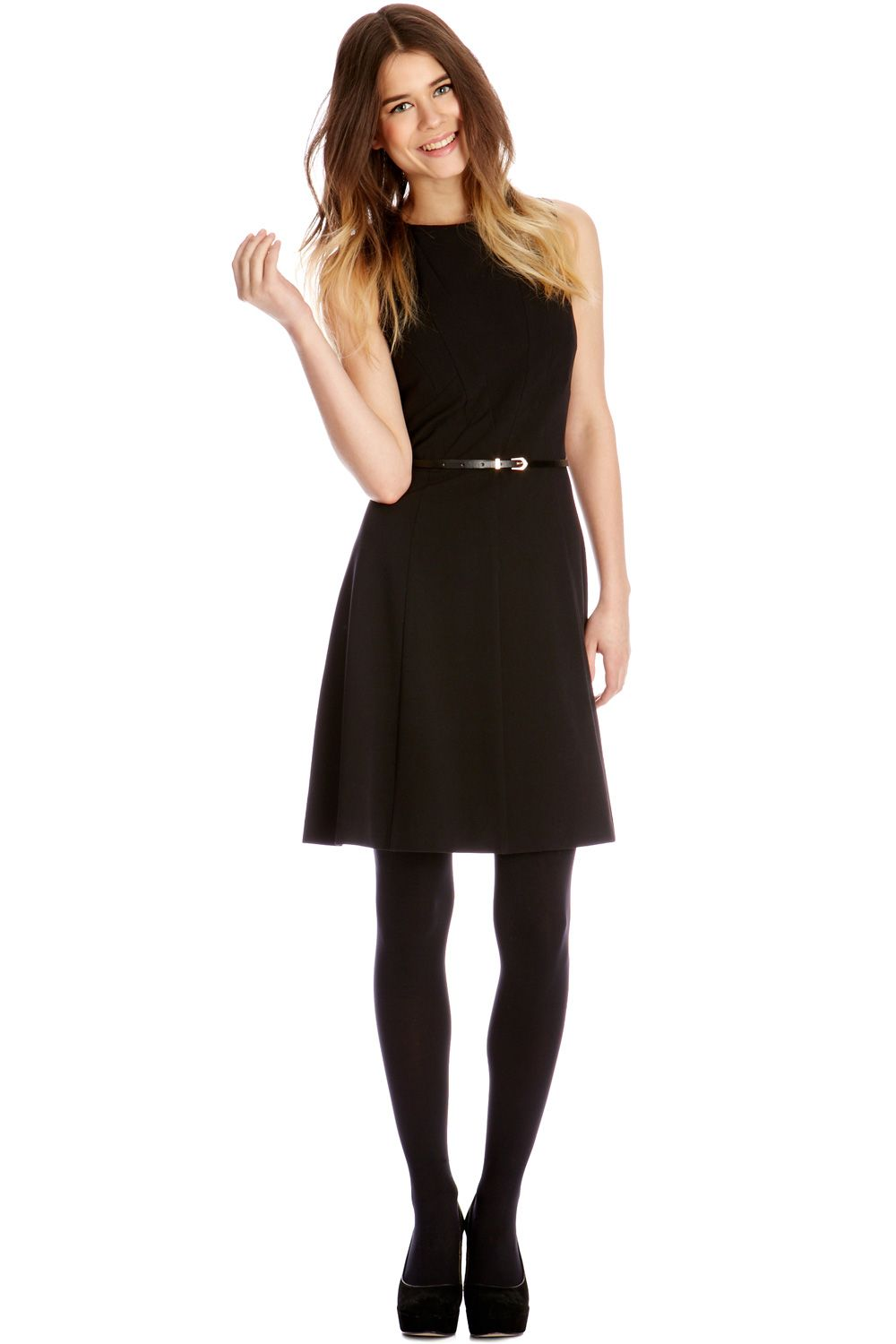 Ella seamed skater dress