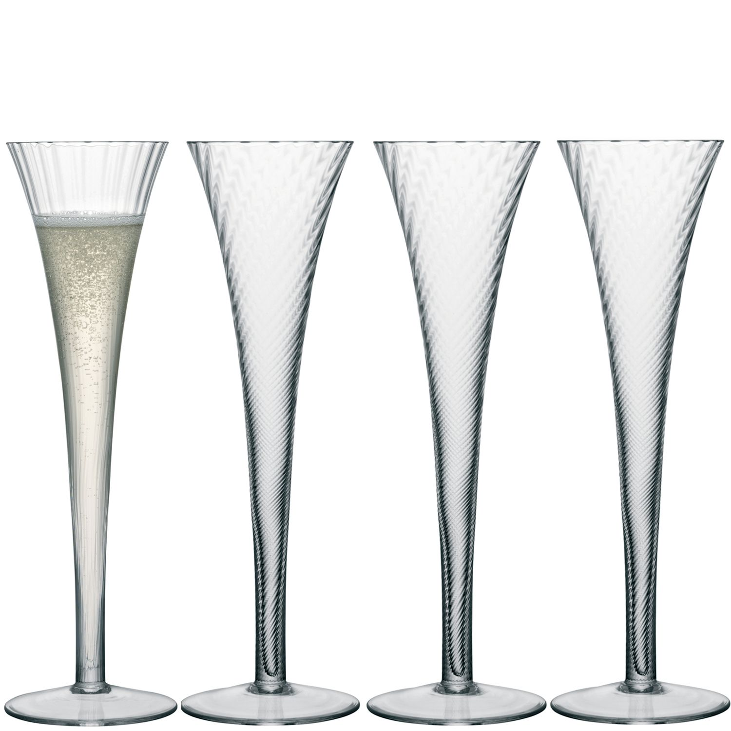 Aurelia champagne flute clear optic set of 4